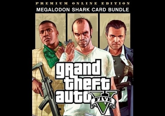 Grand Theft Auto V GTA 5 Premium Online Edition and Megalodon Shark Card  Bundle