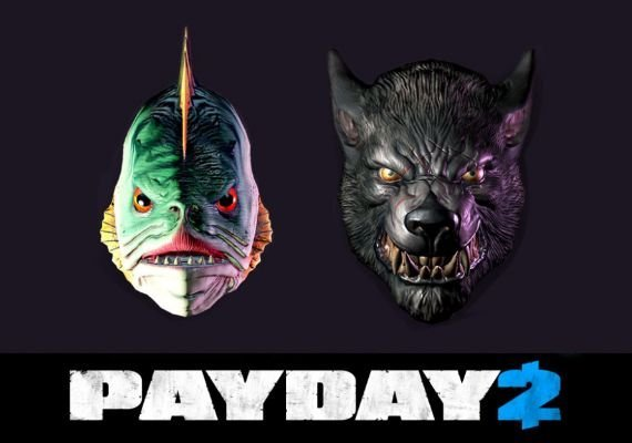 Payday 2: Lycanwulf and The One Below Masks