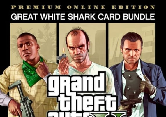 Grand Theft Auto V - Premium Online Edition and Great White Shark Card Bundle