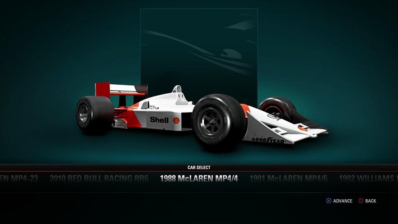 F1 2017 - 1988 McLAREN MP4/4 Classic Car