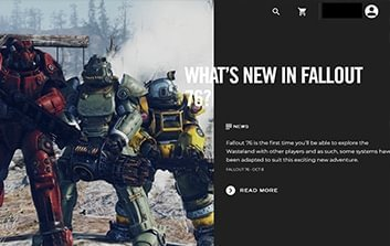Bethesda launcher main page