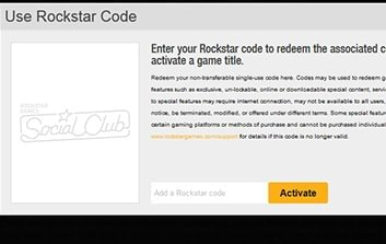 Picture showing where to insert cd key for Rockstar Social Club