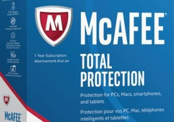 McAfee Total Protection Multi Devices 2018 1 Year 10 Dev