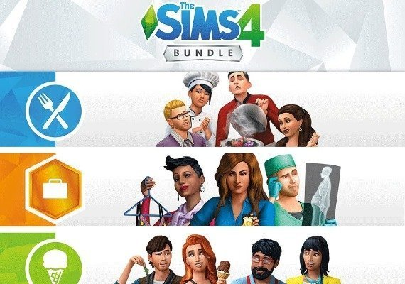 The Sims 4 - Bundle Get to Work, Dine Out, Cool Kitchen Stuff EU