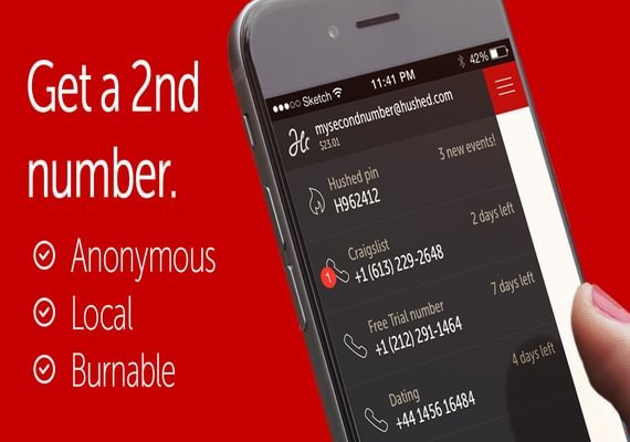 Lifetime of Hushed Second Phone Number