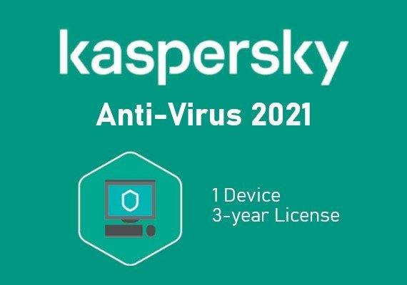 Kaspersky Antivirus 2021 3 Years 1 Dev