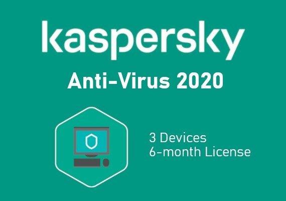 Kaspersky Antivirus 2020 6 Months 3 Dev