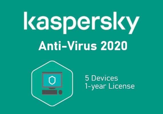 Kaspersky Antivirus 2020 1 Year 5 Dev
