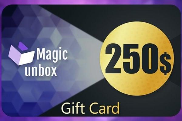 MagicUnbox Gift Card 250 USD